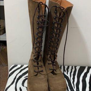 JCrew ladies lace up boots size 8